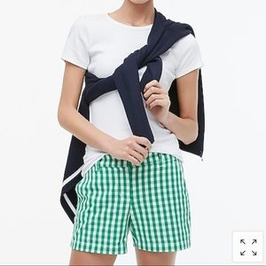 "SOLD J Crew 5"" gingham chino shorts"